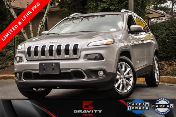 Used 2015 Jeep Cherokee Limited for sale Sold at Gravity Autos in Roswell GA 30076 1