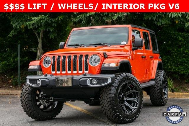 Used 2019 Jeep Wrangler Unlimited Sahara for sale $51,995 at Gravity Autos Atlanta in Chamblee GA 30341 1