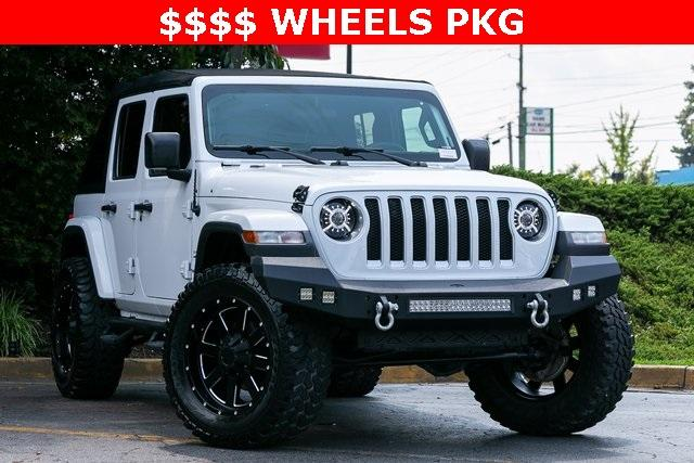 Used 2018 Jeep Wrangler Unlimited Sahara for sale $44,495 at Gravity Autos Atlanta in Chamblee GA 30341 3